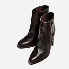 Image 5 of LEATHER HIGH HEEL ANKLE BOOTS from Zara
