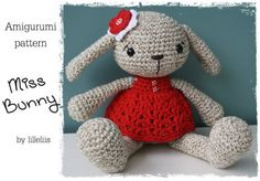 Free+English+Crochet+Patterns+Amigurumi | PATTERN Miss Bunny crochet amigurumi by lilleliis on Etsy