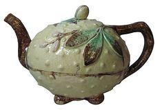 Majolica Squash Teapot on OneKingsLane.com