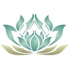 art nouveau / stencil - lotus flower