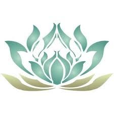 art nouveau / stencil - lotus flower This would be great as a tatt