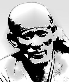 Digital Painting of Sai baba