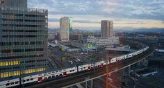 Zürich-West vom neuen Sheraton Zürich Hotel aus gesehen...