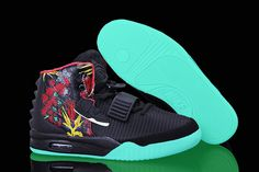 Free Shipping Only 69$ Nike Air Yeezy 2 Givenchy by Mache Customs Green Glow