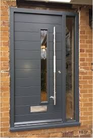 grey contemporary doors – Home decoration ideas and garde ideas Modern Entrance Door, Modern Front Door, Front Door Entrance, House Front Door, House Doors, Aluminium Front Door, Aluminium Windows And Doors, Grey Front Doors, The Doors