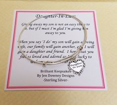 Future Daughter In Law Wedding Gift Sterling By Brilliantkeepsakes Gifts