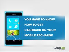 You Have to Know How to Get #Cashback on Your Mobile #Recharge