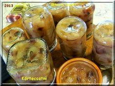 Fűszeres körtecsatni Chutney, Pesto, Pickles, Cucumber, Drinks, Foods, Drinking, Food Food, Beverages