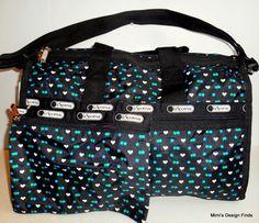 LeSportsac Medium WEEKENDER TRAVEL BAG *New* Stargazer Black 7184 D869 NWT #LeSportsac #TravelBag