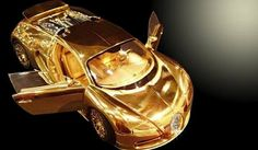 Bugatti Veyron model made of gold and diamonds is more expen.-Bugatti Veyron model made of gold and diamonds is more expensive than the car itself Gold Bugatti Veyron Bugatti Veyron Gold, Bugatti Cars, Carros Lamborghini, Gold Lamborghini, Lamborghini Veneno, Bmw I8, Most Expensive Car, Most Expensive Bugatti, Sweet Cars