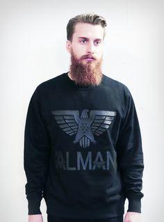 fancy alman classic eagle sweater � black on black