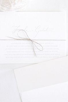 bb62938de73 Color Blanco - White!!! Invitation Paper, Invitation Design, Letterpress  Invitations,