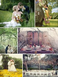 outdoor wedding romance