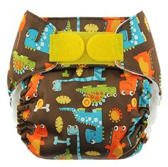 Blueberry One-Size Deluxe Nappies - Dino Party