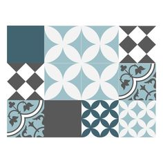 Vinyl Floor Tile Sticker - Floor decals - Carreaux Ciment ...