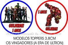 Topper Redondo Médio Os Vingadores