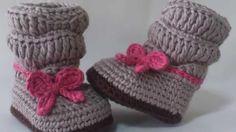 Sapatinhos de croche para bebe - By Croche da Mimi