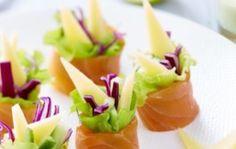 Maki express au gruyère, saumon fumé et légumes de saison