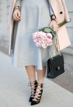 Pink on Pink ~ Suburban Faux-Pas Retro Chic, City Girl, Dress Me Up, Preppy, Dress Skirt, Zara, Feminine, Glamour, Long Skirts