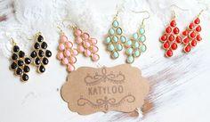 colorful Chandelier Earrings – just $7 www.KatyLoo.com