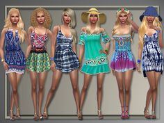 Boho Summer casual outfits at All About Style • Sims 4 Updates