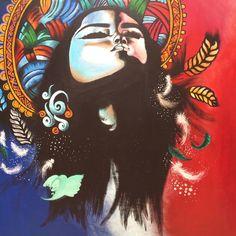 Indian Spirits 1.20m x 1.m Acrylic