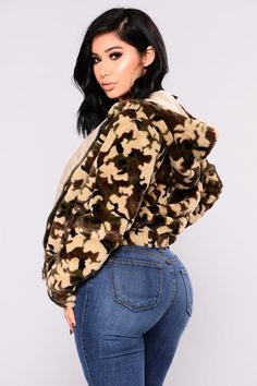 Caelan Fur Camo Jacket - Camo