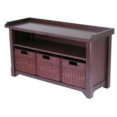 Alcott Hill Alasan Wooden Storage Bench & Reviews | Wayfair