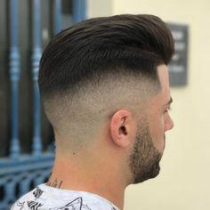 80 Best Undercut Hairstyles for Men - Styling Ideas] Trimmed Beard Styles, Faded Beard Styles, Hair And Beard Styles, Best Undercut Hairstyles, Great Hairstyles, Try Different Hairstyles, Short Hair With Beard, Undercut Pompadour, Pompadour Hairstyle