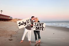 save the date idea-- with Hotel Del in the background?