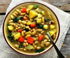 White Bean and Kale Soup (Gluten Free) | Gluten Free and Vegan Recipes by Michelle Blackwood