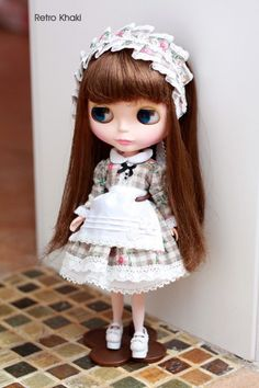 Forest Series Maid Suit   Dress  Clothes  Blythe Size by sunnybobo, $24.00