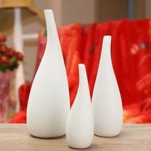 Vaso de Flores de cerâmica 3 Tamanhos Decoração de Casa Moderna Moda Quarto Principal Órgão Floral Ornamentos Presente de Casamento(China (Mainland))