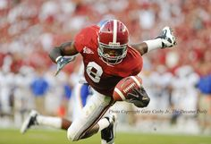 Julio Jones makes a one hand, diving catch for a touchdown against San Jose State in Bryant Denny Stadium Saturday during Alabama's 48-3 win.  Photo by Gary Cosby jr.