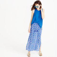 J.Crew - Tassel beach skirt in zigzag ikat #jcrew #summersale