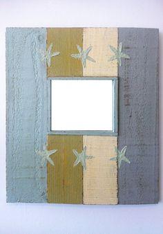 Decorative Wall Mirror Rustic Beach by sodiumgifts on Etsy, $54.00