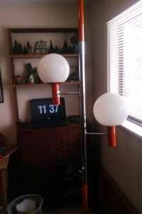 Orange Pole light $60