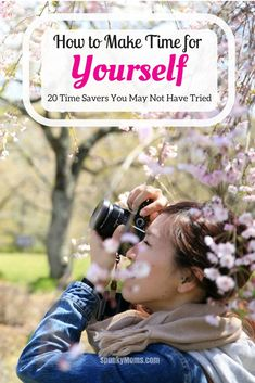 If you're trying to figure out how to make time for yourself, here are 20 suggestions to get you started! A few new times savers can really go a long way. Think what you could do with a little extra time--time to pursue your goals, time to explore your interests, and time to live a bigger better life.