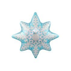 Brrrrr! This icy blue snowflake shaped foil balloon has a white snowflake printed design and is perfect for Christmas or a Frozen themed party! 24 inches or 61 cm | Suitable for air or helium