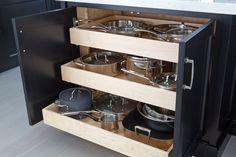 Black Cabinets - Custom Ken Kelly Signature Collection - Manhasset Long Island kitchen