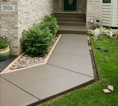 Front Walkway Built Out Of Inexpensive Cement Pavers Red Lava Rocks And Solar Lights Pinterest Walkways