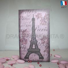 Le menu de votre mariage sur le thème de Paris, une idée originale point de départ d'un thème romantique.