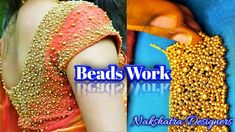 Dear Friends, 💘💘 Welcome to 🌺 Nakshatra Designers. 🌼🌼 How To Do This Simple Beads Blouse Work Design In Aari Embroidery. This Work Using Beads Work, This is . Aari Embroidery, Embroidery Works, Designer Blouse Patterns, Blouse Designs, Sugar Beads, Zardosi Work, Types Of Stitches, Cut Work, Mirror Work