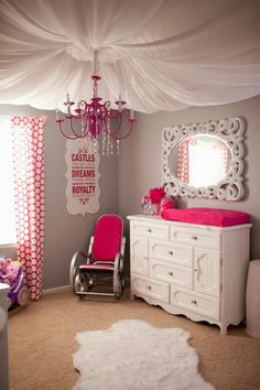 Pink & Grey Nursery | The Frosted Petticoat Blog