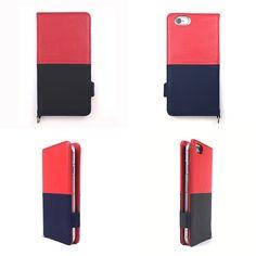 【本革 + 日本製 】絵になるオトナの iPhoneケース   iPhone 6/6s & Plus 対応   Genuine Leather Wallet Case for iPhone 6 / 6s and iPhone 6 / 6s Plus.  Vin x Noir.