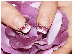 fancy flower nail designs