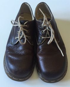 Dr. Martens Brown Round Toe Oxford Shoes Leather Mens size 6 Docs Doc #DrMartens #Oxfords