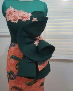 Call, SMS or WhatsApp if you want this style, needs a skilled tailor to hire or you want to expand more on your fashion business. African Lace Styles, African Lace Dresses, Ankara Dress Styles, African Dresses For Women, African Attire, African Wear, African Fashion Ankara, Latest African Fashion Dresses, African Print Fashion