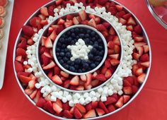 Avengers Party Food - Captain America's Fruit Shield