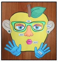 5 senses activities, 5 senses crafts, 5 senses centers, apple activities, apple…